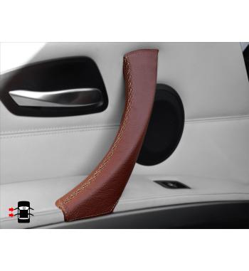 Brown Interior Door Handle Cover Leather for BMW 3 Series E90/ E91 / E92 / E93 M3