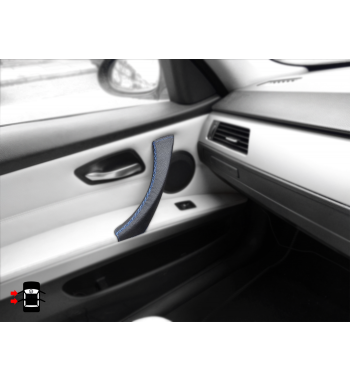 BMW 3 Series E90 E91 & M3 Door Handle Cover - Leather Black (LEFT)