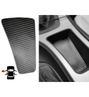 Inserto de carbono para almacenamiento en la consola central del BMW Serie 3 E90 / E91 / E92 (LHD 51167118034)