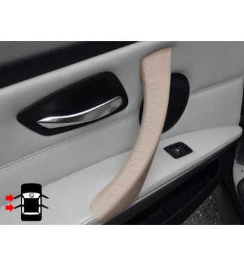 Rivestimento in pelle per maniglie interne destra e sinistra Dakota Beige BMW serie 3 E90 E91 E92 e M3 316-340 i / d