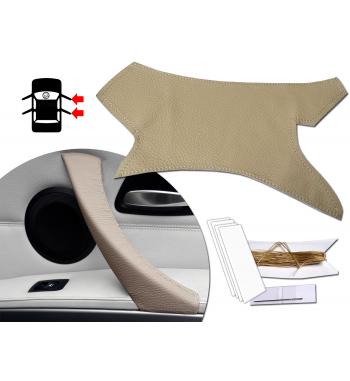 Cubierta de cuero para manijas interiores derecha e izquierda Dakota Beige BMW Serie 3 E90 E91 E92 y M3 316-340 i / d