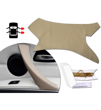 Dakota Beige Klamka pokrowiec skórzany beżowy BMW Serii 3 E90 E91 E92 i M3 316-340 i / d