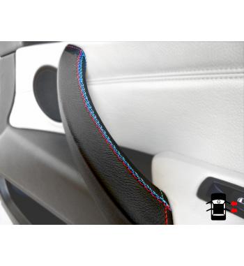 Copri maniglia per BMW X5 & X6 E70, E71, E72 2006-13 Pelle nera M Cucitura sportiva