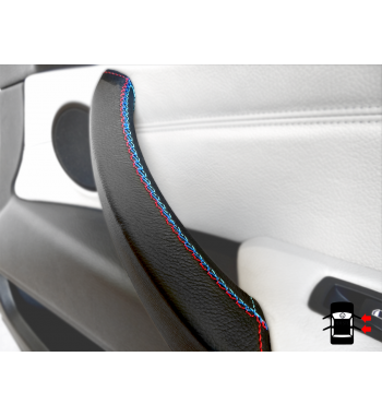 Türgriffschutz für BMW X5 & X6 E70, E71, E72 2006-13 Schwarz Leder M Sportnaht
