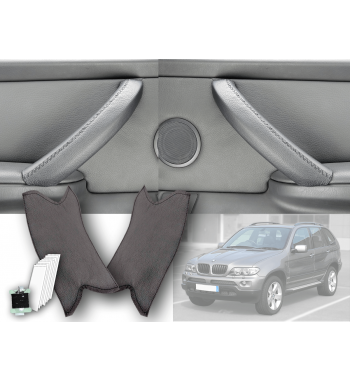 BMW X5 & X6 E70, E71, E72 Black Leather Door Handle Cover (RIGHT)