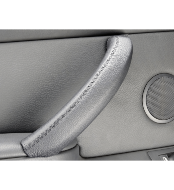 Do Bmw X5 & X6 E70, E71, E72 Skórzany pokrowiec rączki drzwi pasażera czarny