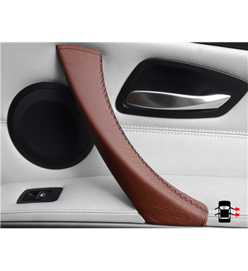 Brown Leather Door Handle BMW 3 Series E90/ E91