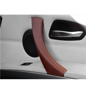 Brown leather BMW 3 Series E90/ E91 316d, 318d, 320d, 320i, 325d, 325i, 328i, 330d, 330i, 335d, 335i, 340d, 340i