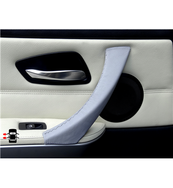 Grey leather cover for BMW 3 Series E90