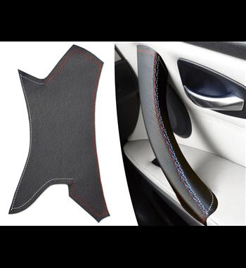 Do Bmw Seria 3 E90 E91 E92 E93 (prawy) Skórzany pokrowiec rączki drzwi pasażera M Sport kolor