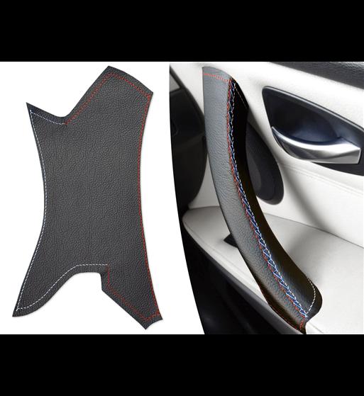 Per BMW Serie 3 E90 E91 E92 E93 Rivestimento in pelle per maniglie (destra) delle portiere passeggeri M Colore Sport