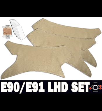 Beige door handles set for bmw 3 series LHD