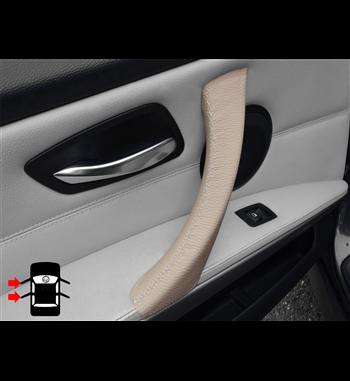 Beige leather door handle cover for bmw 3 series