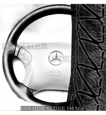 Mercedes C Klasse W203 C180-C350 CDI/CGI/4Matic Schwarz Leder Lenkrad...