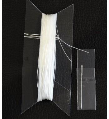 Corde de laçage blanche pour couverture de volant en cuir