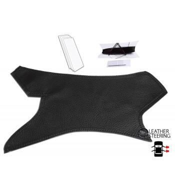 BMW 3 Series E90 E91 E92 E93 (RIGHT) Door Handle Black Leather Cover Black Stitch