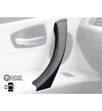Für BMW 3er E90 E91 E92 E93 LINKS Türgriff schwarz Lederbezug schwarz genäht