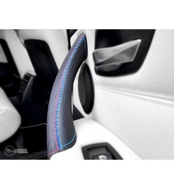 Pour BMW Série 3 E90 E91 E91 Carbon Fiber Couvercle en cuir pour poignée de porte passager (droite) M Couleur sport