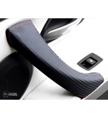 Für BMW Serie 3 E90 E91 Carbon Fiber Lederbezug für (rechten) Beifahrertürgriff M Sportfarbe