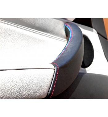 Türgriffabdeckung für BMW X5 E70 2006-13 Schwarz Leder M Sportnaht (LINKE Tür)