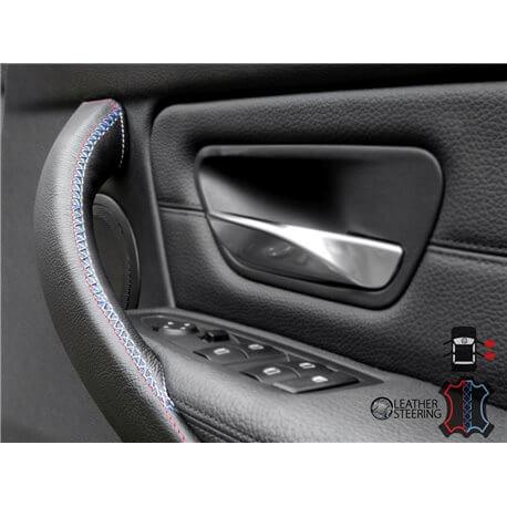 Housse en cuir pour BMW 3 Series F30 / F31 / F34 / F35 / F80 Poignée de porte intérieure (porte droite)