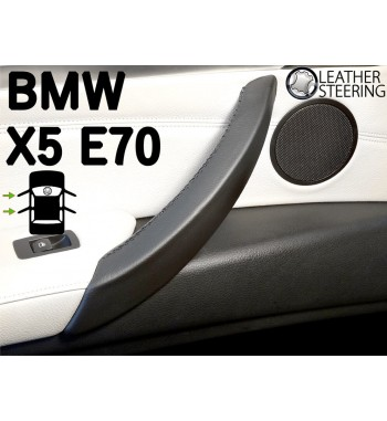Do Bmw Seria 3 E90 E91 E92 E93 (LEWA) Skórzany pokrowiec rączki drzwi pasażera M Sport kolor