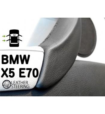 Do Bmw Seria 3 E90 E91 E92 E93 (lewy) Skórzany pokrowiec rączki drzwi pasażera M Sport kolor