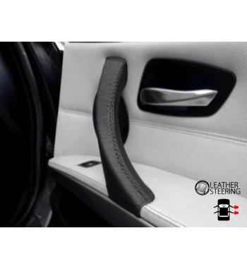 Per BMW Serie 3 E90 E91 E92 E93 Passeggero laterale DESTRO Maniglia della portiera Nero Rivestimento in pelle Nero