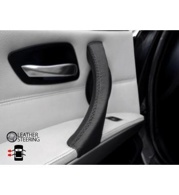 Pour BMW 3 Série E90 E91 E91 E92 E92 E93 LEFT Poignée de porte noire Housse en cuir noir Points noirs noir