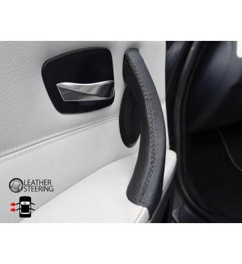 Per BMW Serie 3 E90 E91 E92 E93 Maniglia sinistra Copriporta in pelle nero Punto nero