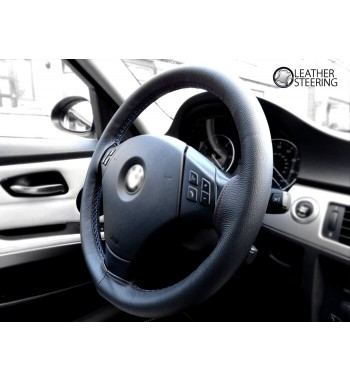 Steering Wheel Cover For BMW 3 Series E90/E91 Black Leather M3 Stitch