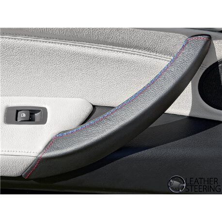 BMW X5 E70 Black Leather Door Handle Cover (LEFT)