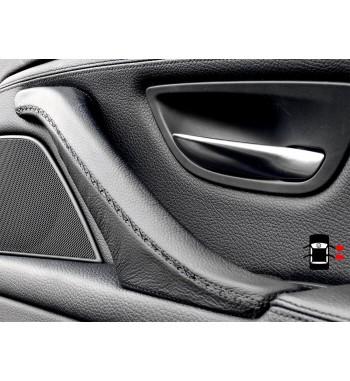 BMW 5 Series F10 F11 F18 Skórzany pokrowiec wewnętrznej rączki drzwi