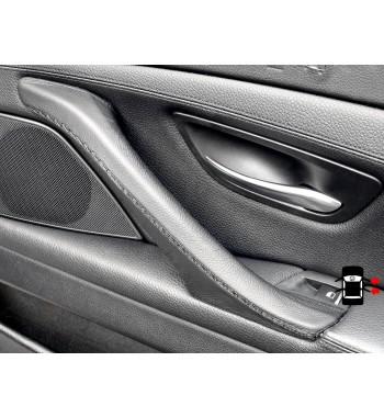 BMW 5 Series F10 F11 F18 Interior manija de la puerta cubierta de cuero
