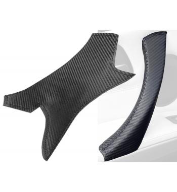BMW serii 3 E90/ E9x Carbon Effect wewnętrzna skórzana osłona klamki drzwi