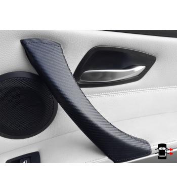 BMW 3er E90/ E9x Carbon-Effekt Türinnengriff Lederbezug