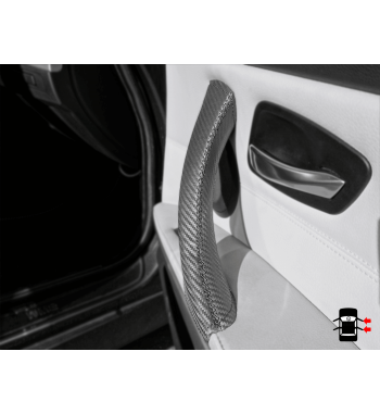 BMW Serie 3 BMW E90/ E9x effetto carbonio maniglia interna delle portiere copertura in pelle
