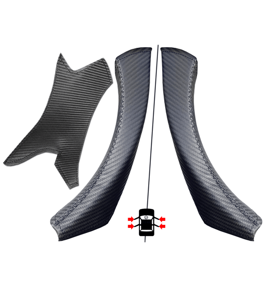 BMW E90/ E9x Carbon Effect Interior Door Handle Leather Protector