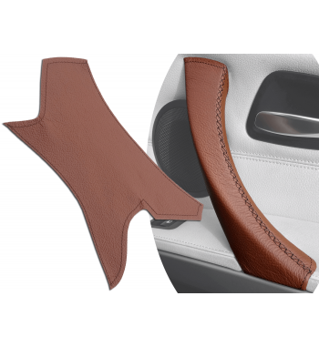 Brown Interior Door Handle Leather Cover for BMW 3 Series E90/ E91 / E92 / E93 M3