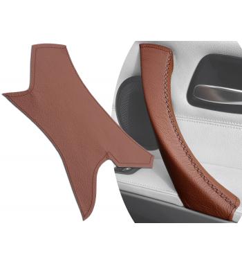 Cubierta de cuero en la manija de la puerta interior marrón para BMW 3 Series E90 / E91 / E92 / E93 M3