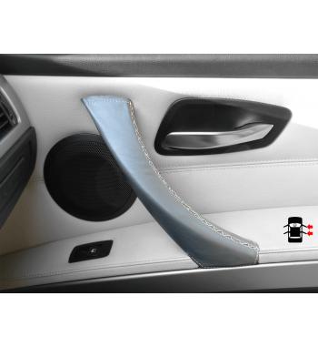 Copertura in pelle grigia della maniglia della porta per BMW Serie 3 E90/ E91 / E92 / E93 M3