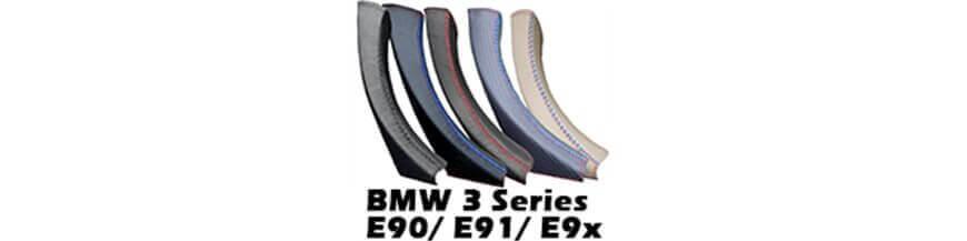 Manija de la puerta Cubierta de cuero para BMW 3 Series E90 E91 E92 E93 (2004-2012)