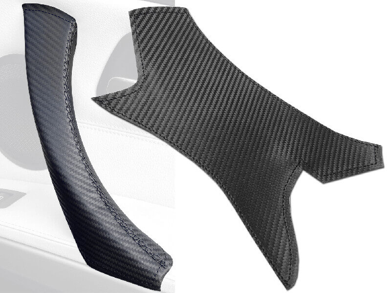 Carbon fibre leather cover for BMW 3 Series
