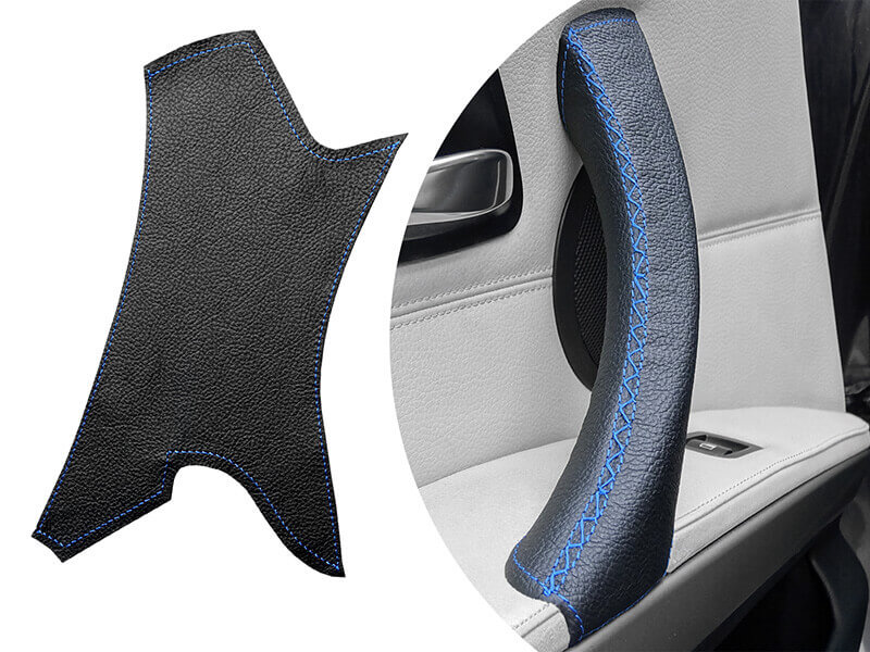 Blue leather cover bmw 3 series