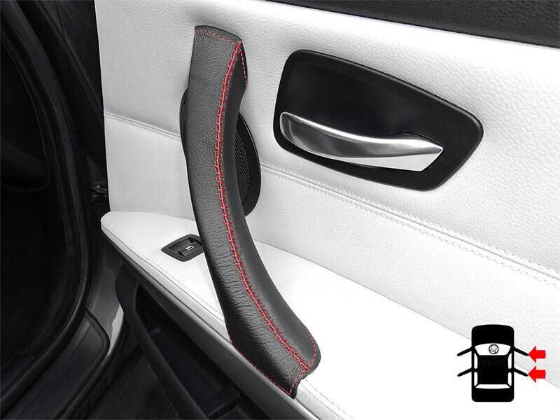 Red door handle cover for BMW 3 Series